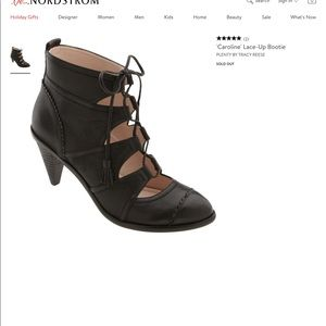 Leather Lace up Booties, 8.5
